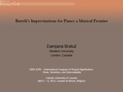 Bartók's Improvisations for Piano: a Musical Frontier