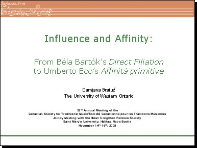 Influence and Affinity